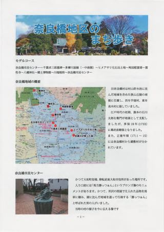⑩奈良橋地区のまち歩き《とっておきの観光情報(東大和観光ガイドの会)》